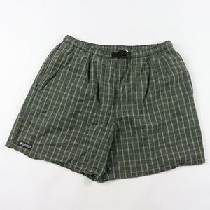 Vintage Columbia Spell Out Plaid Hiking Shorts L